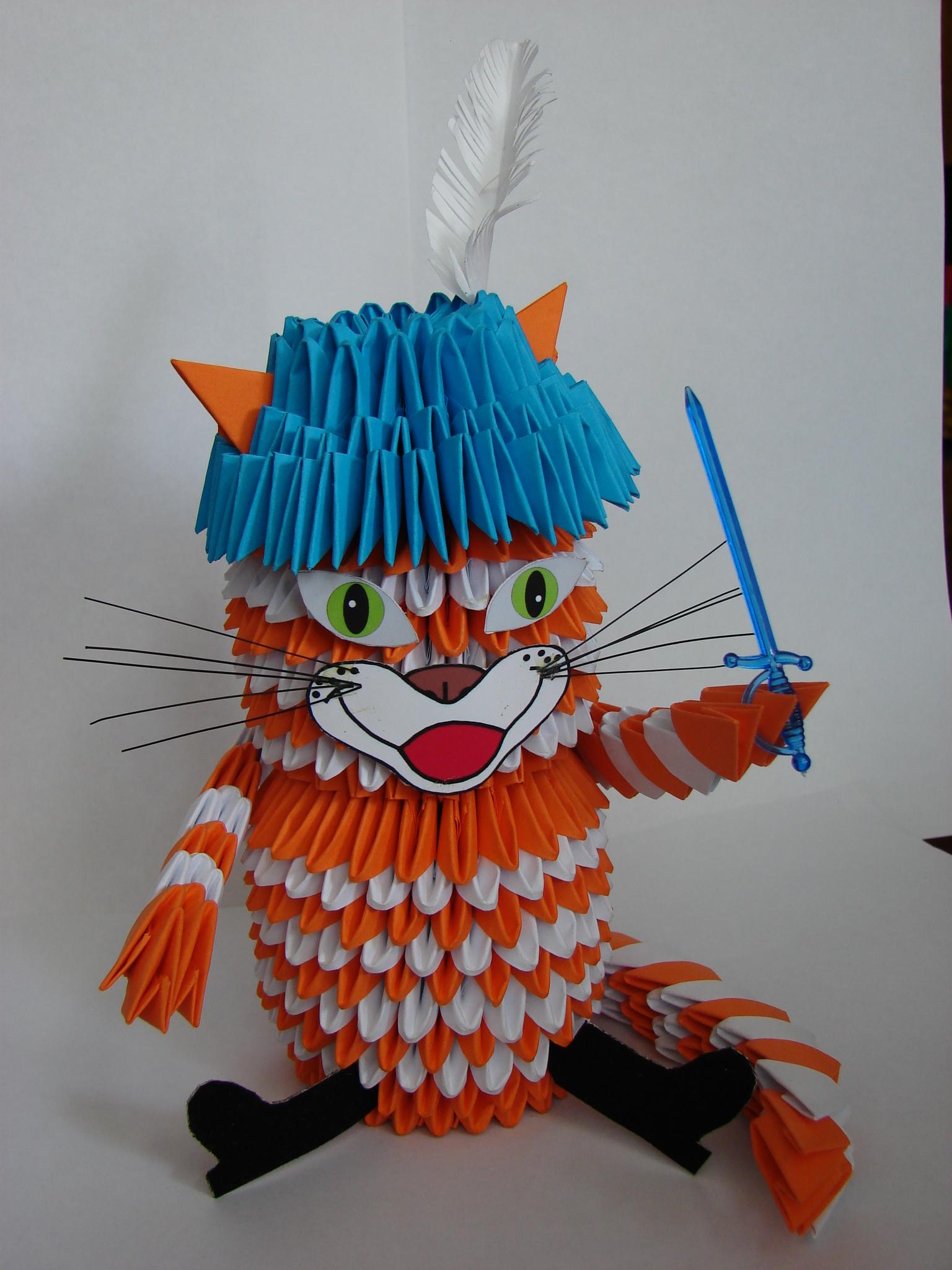 Поделки из модулей схемы кошки